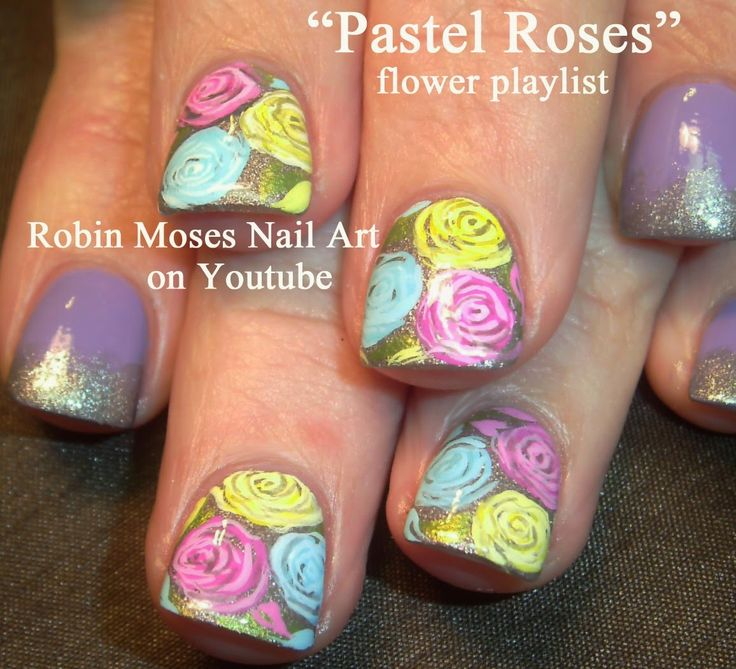 Robin Moses Nail Art Designs: 17 Best Images About FLOWERS Nail Art Pictures With