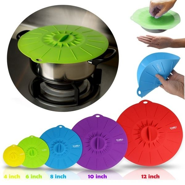 walfos set of 5 silicone microwave bowl