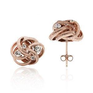 Komplet biżuterii srebrnej Komplet pozłacany z cyrkoniami