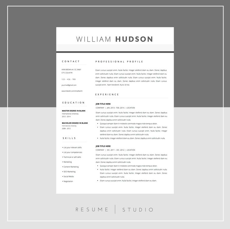 59 best ☆ Resume Templates for Word + Cover Letter images on - letter templates word