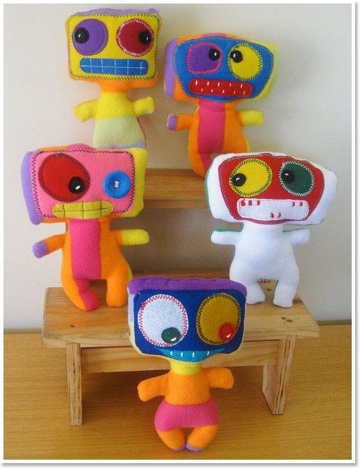 C3N2KIDS, Handmade Dolls, Toys, Softies, Monster Dolls