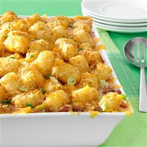 Taste of Home Tater Tot Casserole Recipes - Looking for recipes for tater tot casserole? Taste of Home has the best tater tot casserole recipes from real cooks like you, featuring reviews, ratings, how-to videos and tips.