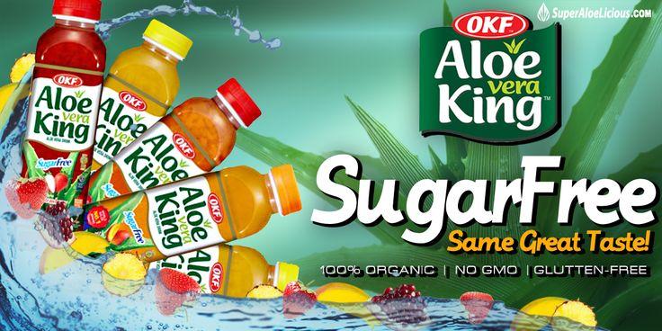 Try Our #SugarFree Aloe Vera at www.SuperAloelicious.com !!! #sugarfree #aloe #aloeVera #AloeJuice #OKF #delicious #AloeVeraKing