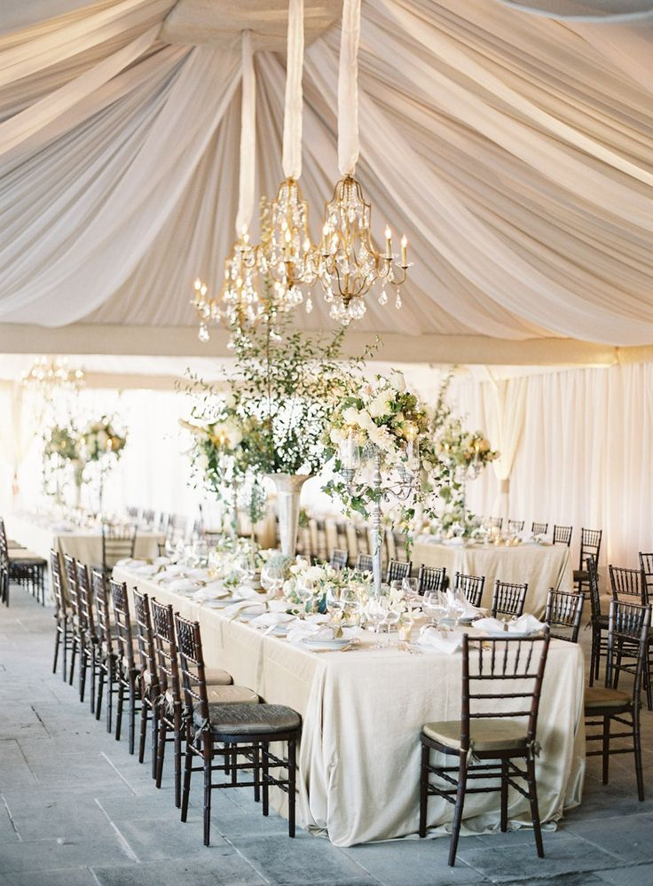 Tracy & Andrew's tent... set and ready for a lovely wedding dinner! Event Design: EastonEvents Photography: Jose Villa Florals: Saipua As seen in @Martha Stewart Weddings Magazine