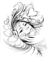 deviantART: More Like Day of the dead girl tattoo design by ~NeoGzus