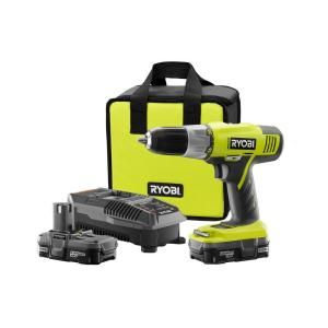 Ryobi, 18-Volt One+ Lithium-Ion Drill Kit, P817 at The Home Depot - Mobile $100