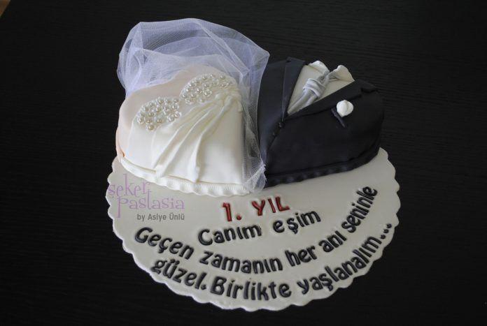 Evlilik Yıldönümü Pastaları ve Sözleri - En Güzel Evlenme Yıldönümü Fikirleri