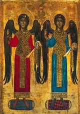 Who Are the 7 Archangels?: Archangels Michael and Gabriel (12th century). Orthodox icon at the Saint Catherine's Monastery, Mount Sinai.