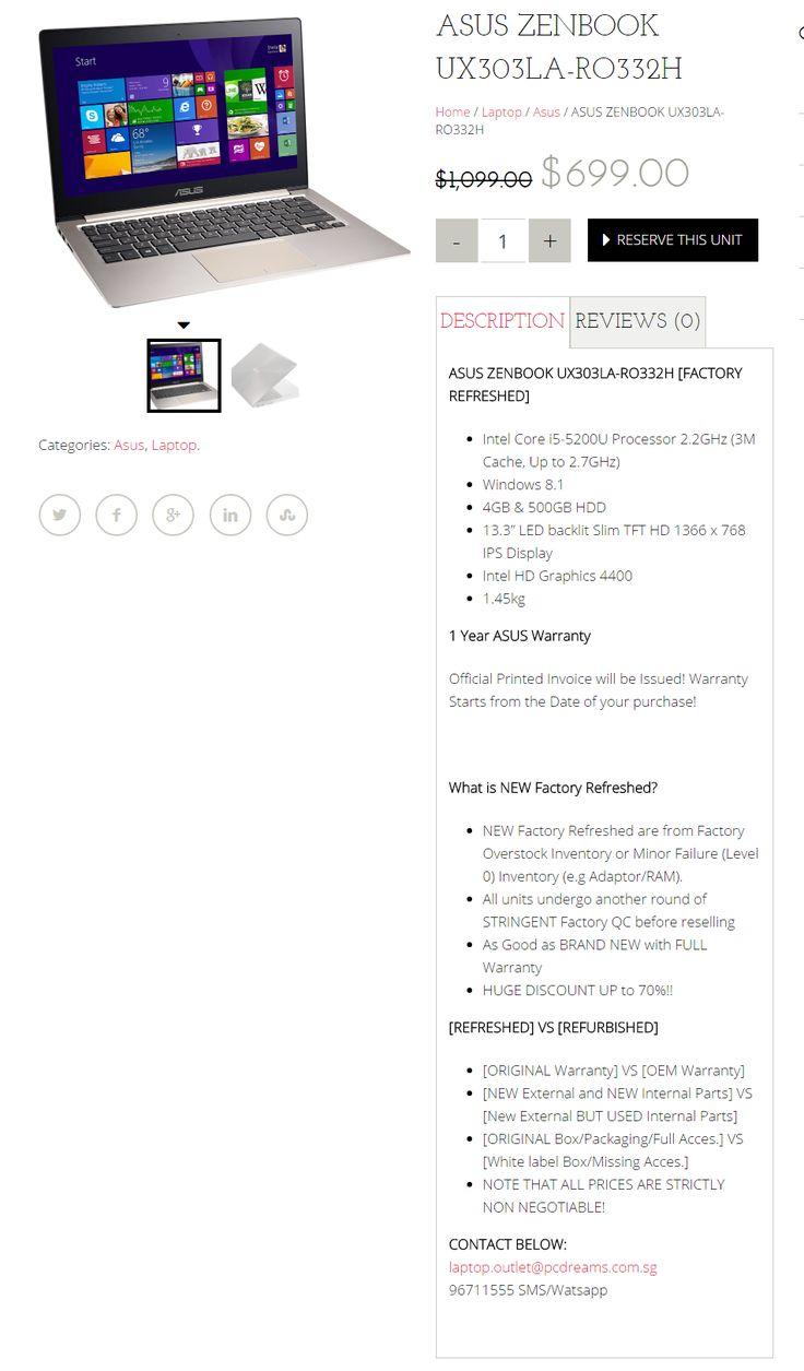Super nice Cheap laptop + Asus Laptop Singapore + Refurbished laptop