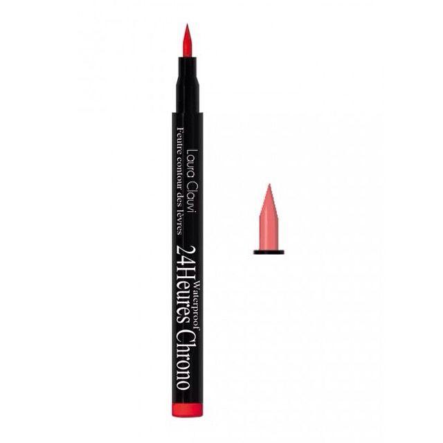 Δώστε σχήμα και ένταση στα χείλη σας με το lip liner της Laura Clauvi!! Χρησιμοποιείστε το πριν εφαρμόσετε το κραγιόν ή το lipgloss σας και απολαύστε το για 24 ολόκληρες ώρες!!!