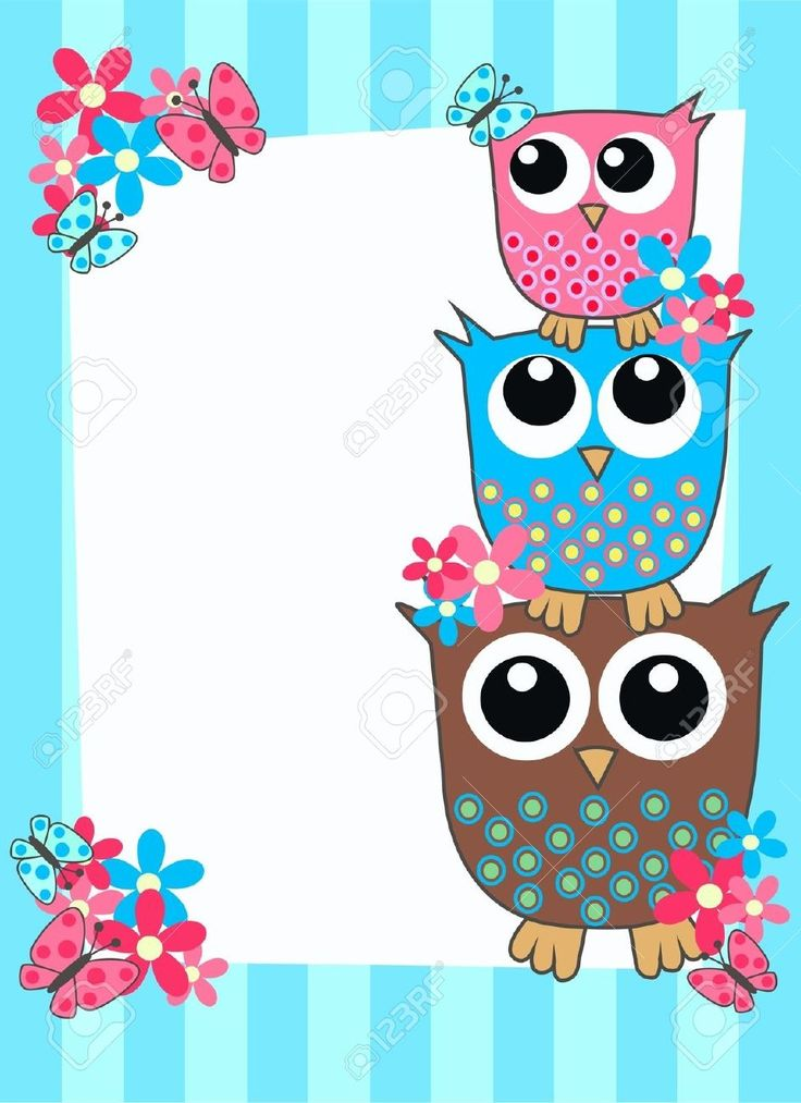 Cute Owl Wallpaper Border Cute Owl Border Clipart Crafts For Me Owl Card Owl
