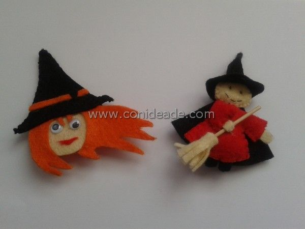 Plantillas para hacer broches de fieltro para halloween #halloween #crafts #manualidades