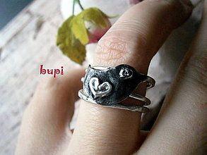 Prstene - DIAMANTové očko alebo Vtáčik na prste pristál :) - 5955737_