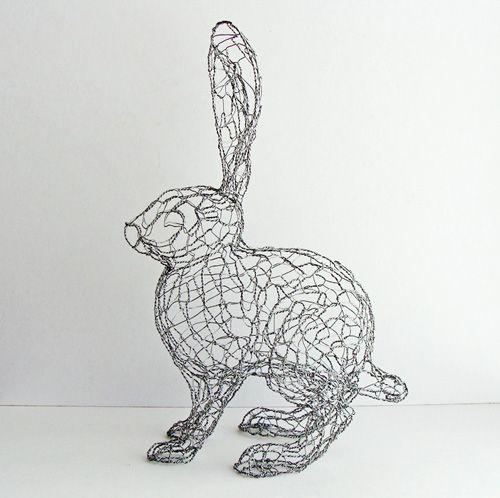 65 best Wire & Chicken Wire images on Pinterest | Wire sculptures ...