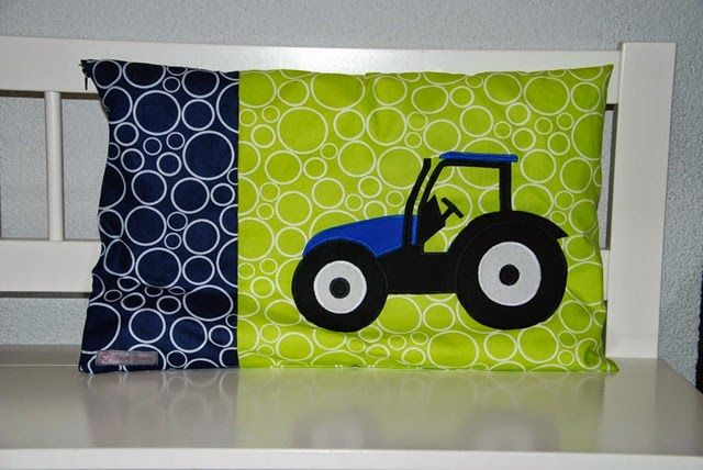 Pillow cover - appliqué - New Holland Truck -