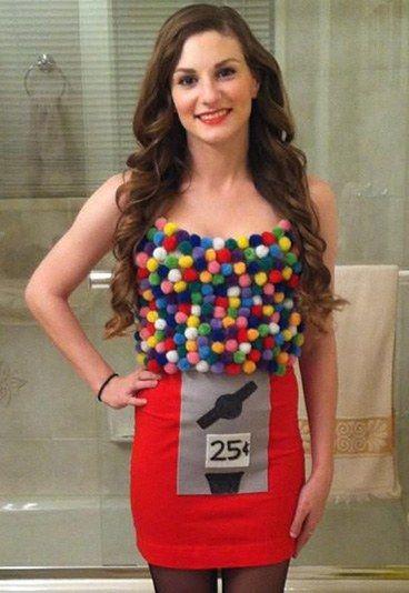 Sexy Kaugummiautomat: Karnevalskostümideen 2016 - klickt auf das Bild und seht die Anleitung für dieses Kostüm!