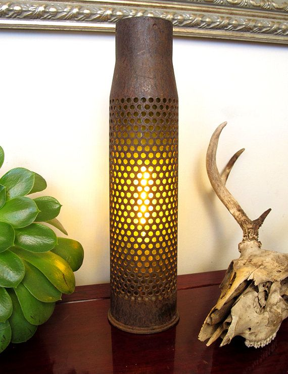 Glowing Artillery Shell Casing Lamp By Theaccretion On