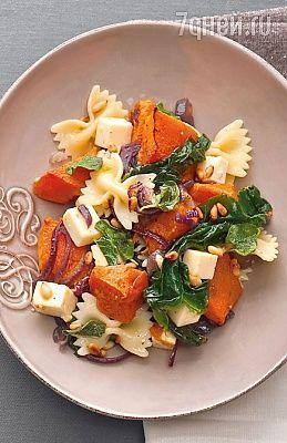 Рецепты от Юлии Высоцкой: салат  с тыквой, кролик  в сметане с беконом  и яблочные оладьи