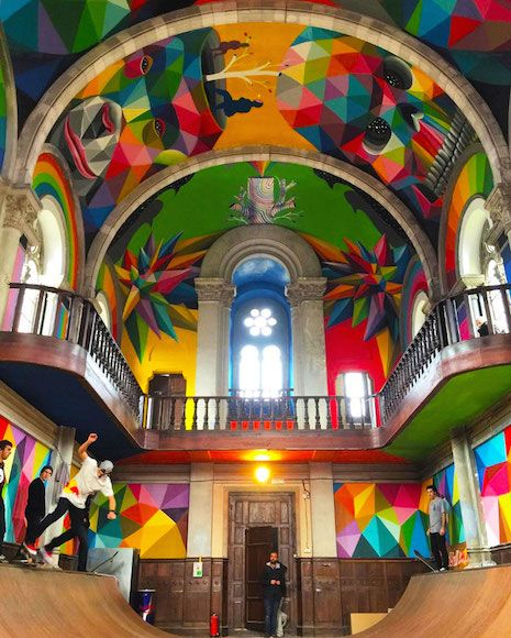 Holy rollers: Church transformed into psychedelic skate park | Dangerous Minds