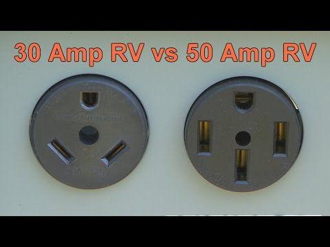 30 vs 50 Amp RV Service KOA Camping External lighting