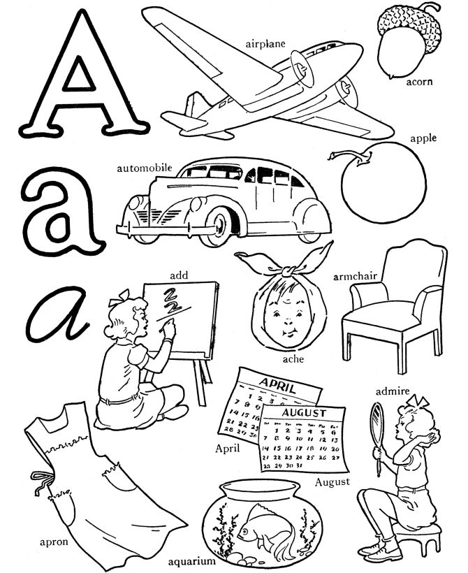 8 letter words starting with y abc alphabet words coloring activity sheet letter a 16962