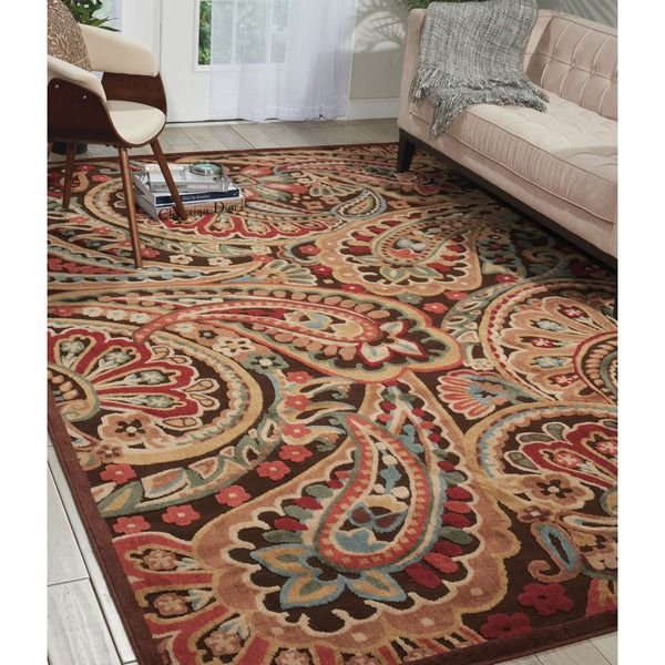 Nourison Graphic Illusions Paisley Mutli Color Rug (5u00273 X ...