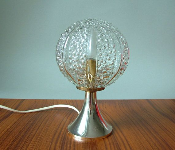 Vintage silver tulip desk lamp panton style glass balloon on a – Tulip Desk Lamp