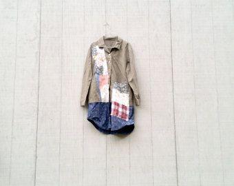 Tank jurk Boheemse zomerjurk draagbare kunst blauw tuniek