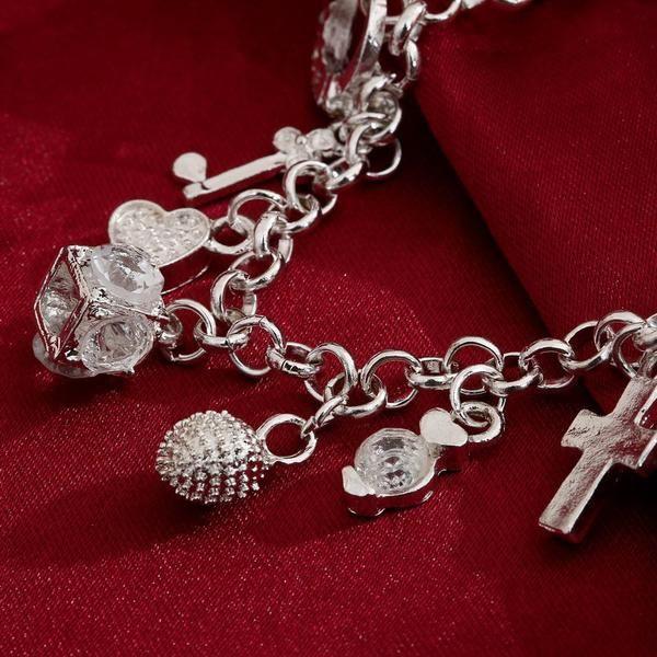 925 Sterling Silver Multi Design Handmade Bracelet - Wanelo Gift Ideas