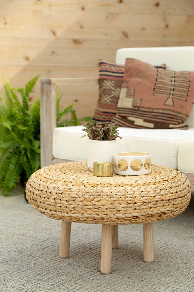 Ikea Hack Alseda Stool To Coffee Table With Images Living Room