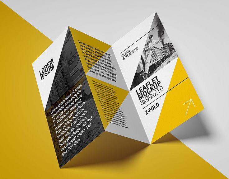 """Confira este projeto do @Behance: """"Free Flyer Mockup / Z Fold"""" www.behance.n..."""
