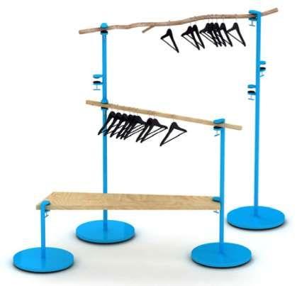 Collapsible Clothes Racks : Hangair Foldable Hanger