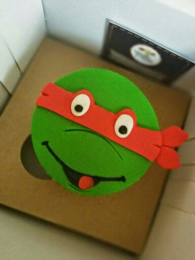#Ninja #Turtle #cupcakes that we make for a #surprise #breakfast #gift!