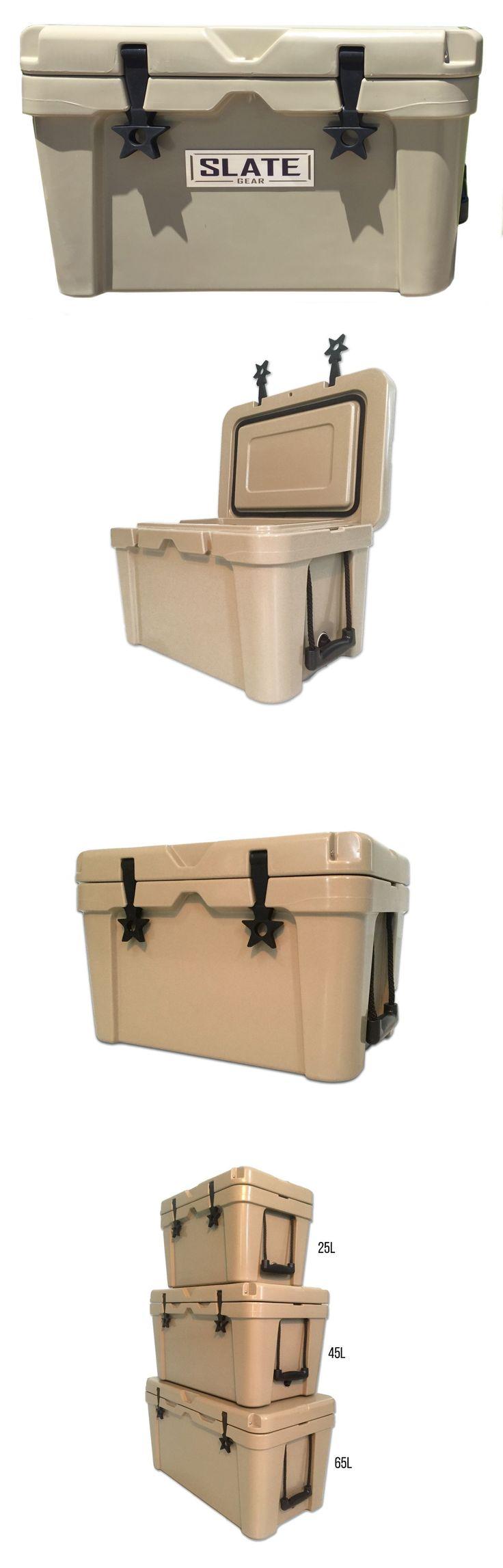 Ice Chests and Coolers 79691: New - Tan 65L Rotomolded Coolers - Yeti, Rtic Style Cooler - Slate Gear Cooler -> BUY IT NOW ONLY: $209 on eBay!