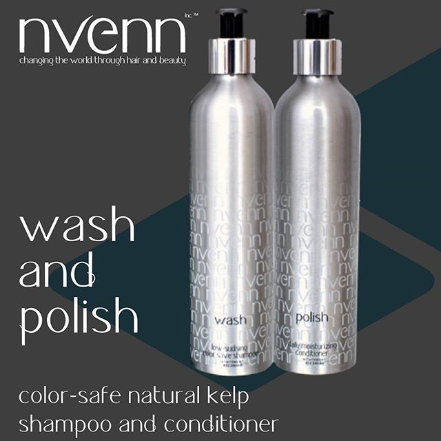 a moisture-rich, weightless shampoo and conditioner. SULFATE-FREE shampoo that deeply HYDRATES and REPAIRS while preserving color. begin repairing damaged hair from the inside out with this powerful duo.    #nvenn #salonpro #shampoo #conditioner #yeghair #yychair #hair #beauty #bblogger #proystylist    wash and polish: https://goo.gl/MMUPUk