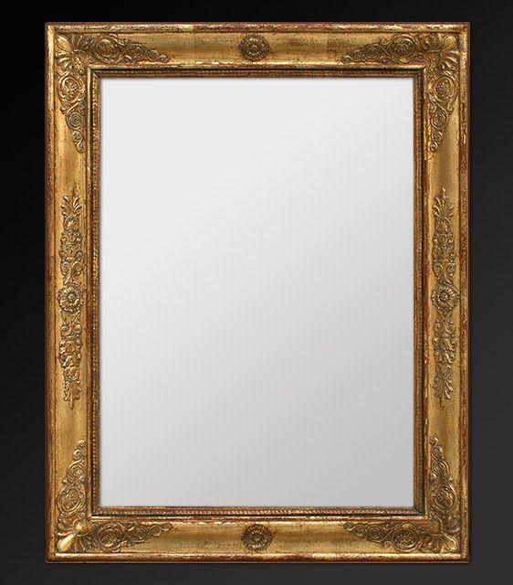 Miroir ancien époque restauration, miroir au mercure