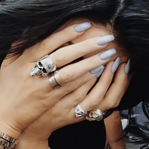 Kylie Jenner Light Blue Nails | Steal Her Style