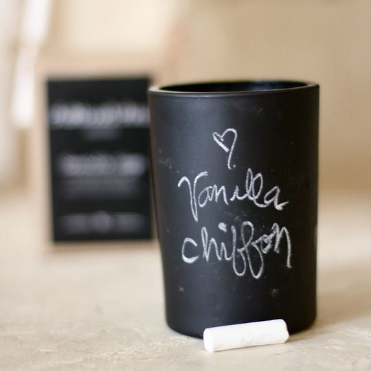 Nothing says #fall like our Vanilla Chiffon #Candle by Chalkboard China.