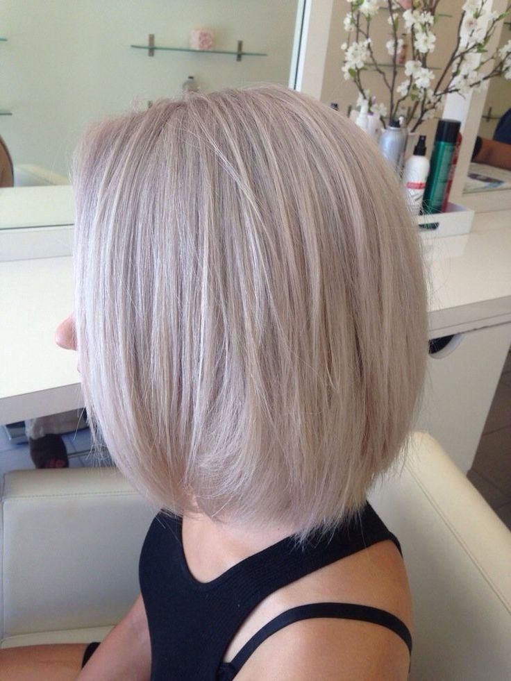 Grey Hair With Pink Highlights Amp Short Bob Beauty Salon