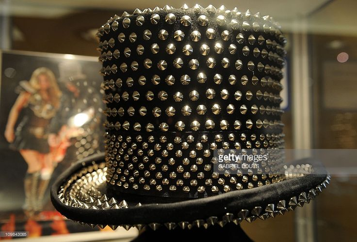 Slash's hat is seen during the preview of the sale of exclusive property from legendary guitarist and musician of Guns N' Roses and Velvet Revolver at Julien's Auctions in Beverly Hills, California on March 7, 2011. Included in the auction sale are some of the iconic, Grammy-winning, rock guitarist and songwriter's famous guitars, memorabilia, vehicles and personal furniture and décor from his Hollywood Hills residence.