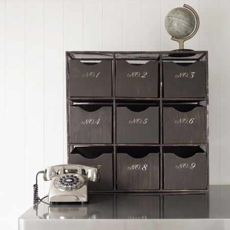Love this 9 Drawer Storage Chest. I like my storage options to be interesting.