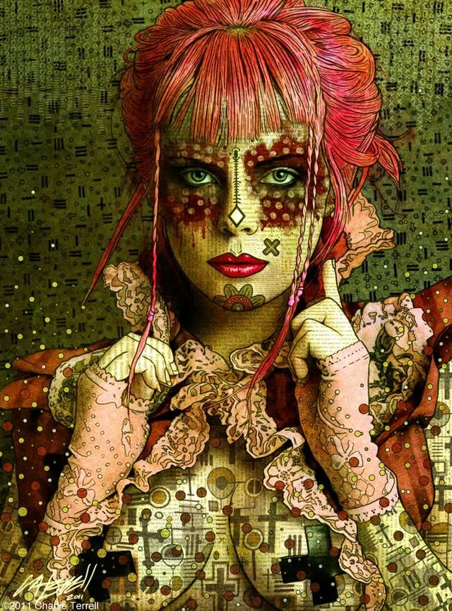 Charlie Terrell Digital painting, Digital portrait, Art