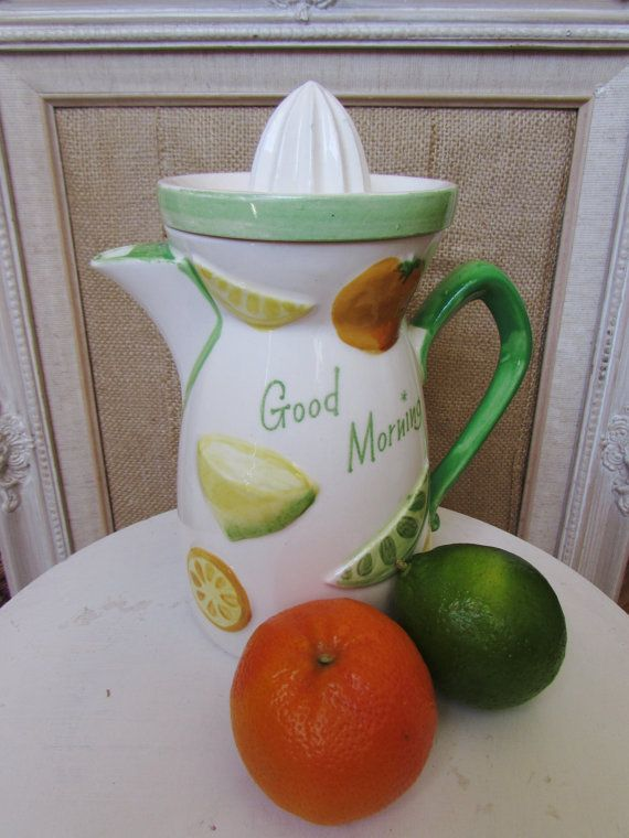 #vintagekitchen #farmhousekitchen #juicer Juicer Pitcher Mid Century Napco  with by 2Good2BeForgotten