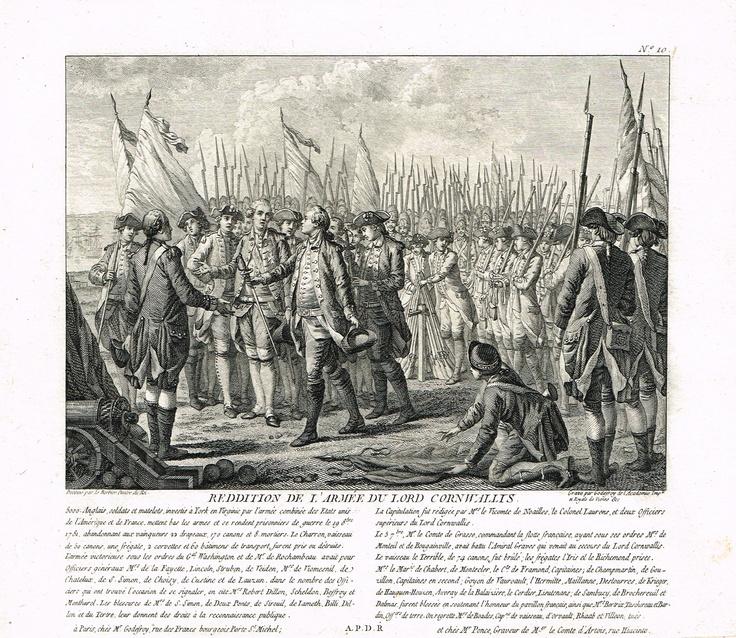 Reddition de l'armée du Lord Cornwallis le 19 octobre 1781