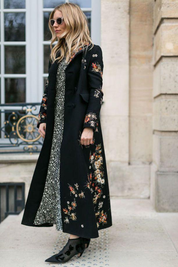 Paris Fashion Week Street Style // Sienna Miller