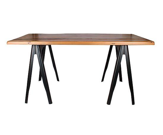 Las 25 mejores ideas sobre mesas de comedor de caballete - Caballetes de hierro ...