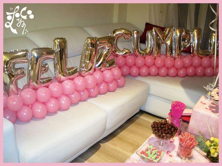 17 best images about decoracios con globos on pinterest - Decoracion con globos para cumpleanos ...