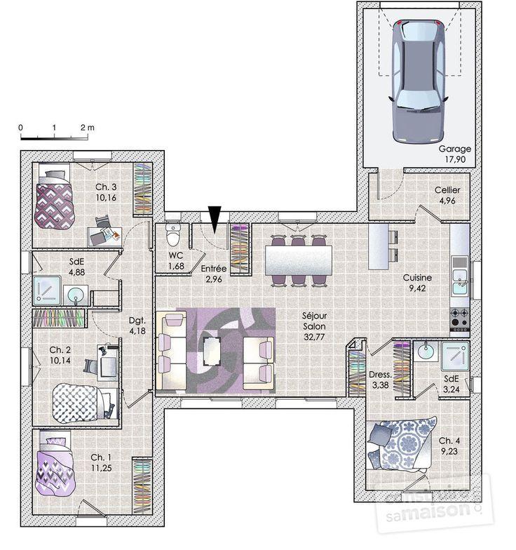 Les 25 meilleures id es de la cat gorie plan maison sur - Faire plan maison ...