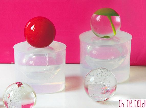 2 Spheres Clear Molds  Molds for  20 mm  2 resin Balls by OHMYMOLD, €19.98