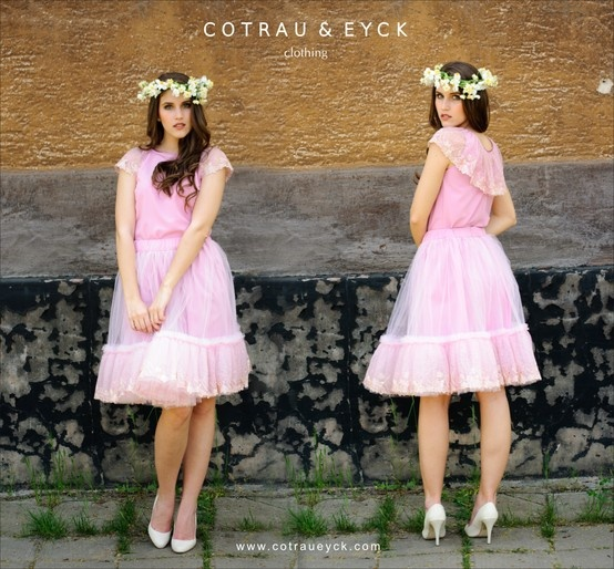 tulle skirt and blouse - PINK